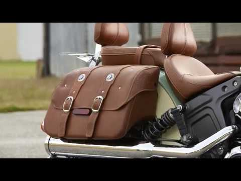 Genuine Leather Saddlebags, Desert Tan - Image 1 of 5 - Product Video