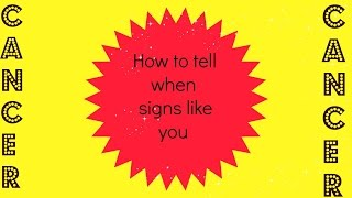 How to tell if a Cancer likes you