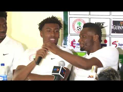 Shocker! Watch what Mikel, Iwobi and Aina did at press conference