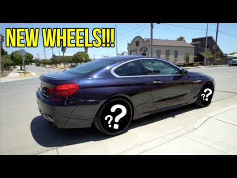 THE BMW 650i FINALLY GETS NEW WHEELS!!!