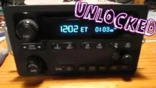 Unlocked Chevrolet Theftlock Radio