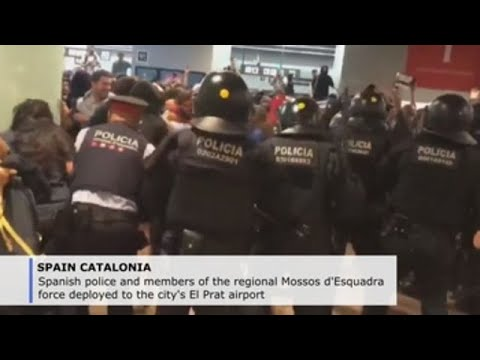 Tensions in Barcelona as protesters denounce Supreme Court ruling