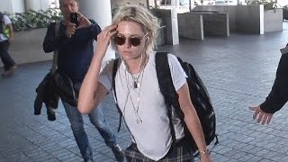 Kristen Stewart Rocking The Beach Casual Look At LAX