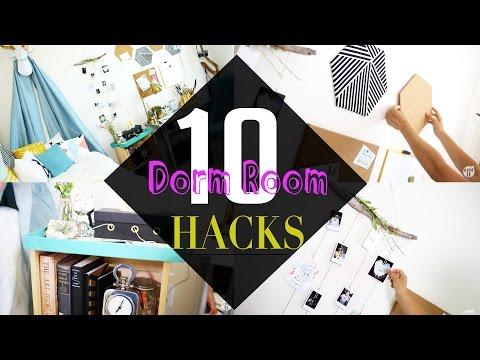 Top 10 BACK TO SCHOOL Dorm Room Decor HACKs | ANN LE