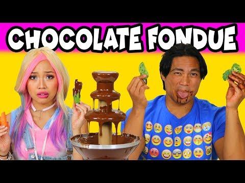 Chocolate Fondue Challenge is it Wengie vs Guava Juice? Totally TV