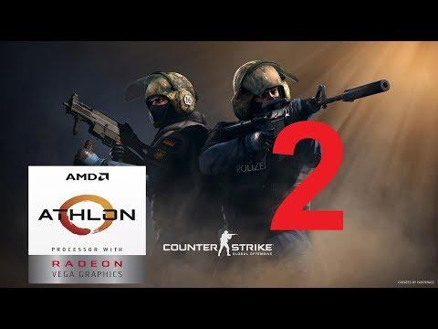 AMD Radeon RX 570 -- AMD Athlon 200GE -- CSGO FPS Test Dust