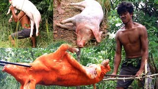 Primitive technology - Eating Pork boiled And Cooking