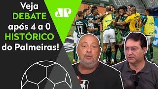 Veja debate do 'Esporte em Discussão' sobre o histórico 4 a 0 do Palmeiras sobre o Corinthians