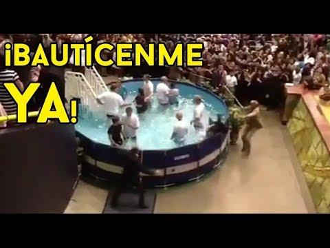 mujer busca bautizarse a toda costa en asamblea regional