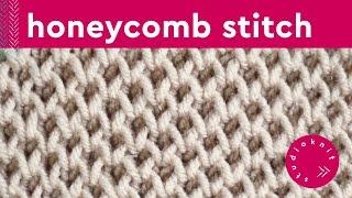 Honeycomb Stitch   Brioche Knitting Pattern