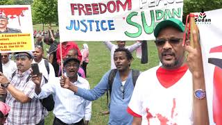 Sally Infront of The Congress 8th June 2019 and Her Dream of The Renaissance of Sudan