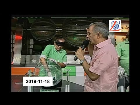 Sorteo de la noche del 18 de Noviembre del 2019 (Lotería Nacional Dominicana, Nacional Noche)