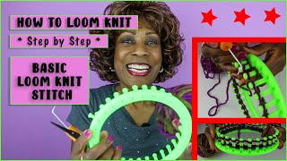How To Loom Knit For Beginners: Basic Loom Knit Stitch
