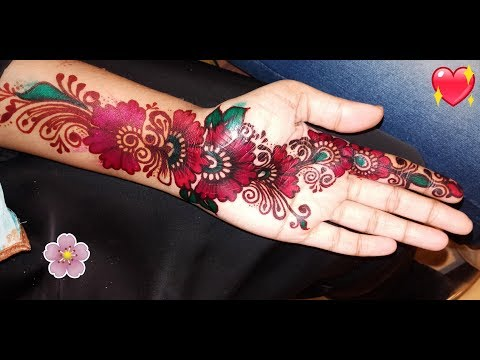 floral color mehndi design for festivals by be you and beauty