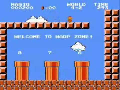 Super Mario Bros. - Low Score Run (600 Points) (видео)