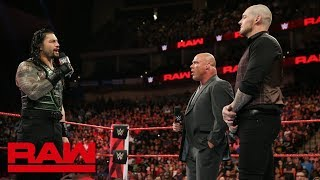 Roman Reigns confronts Constable Baron Corbin about Brock Lesnar: Raw, Aug. 6, 2018
