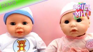 Vergleich: Laura Sonnenschein vs  My litte Baby Annabell Puppe