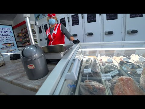 Жизнь продолжается. Шикарный рыбный магазин в Анапе.