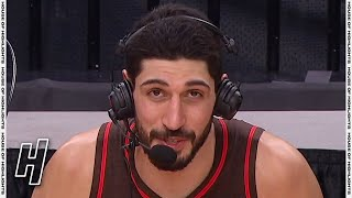 Enes Kanter Talks About Franchise Record, Postgame Interview   Blazers vs Pistons   April 10, 2021