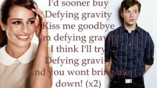 Defying Gravity Glee Lyrics