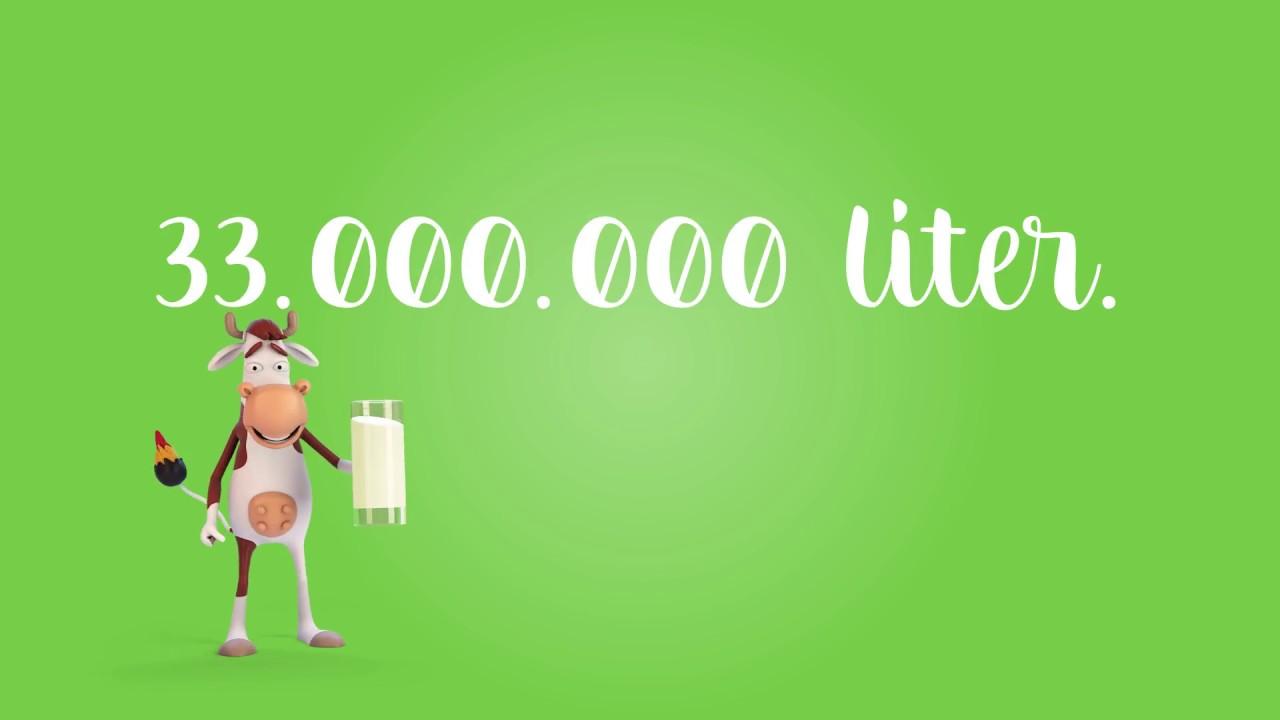 33 000 000 von unserer halbvollen Milch! (NL)