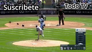 Tremenda pelea se alma entres Colorado Rokies VS Padres San Diego-(Todo TV)