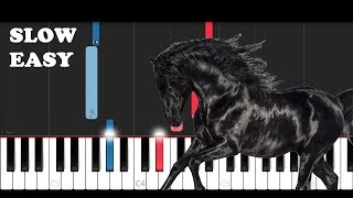 Lil Nas X   Old Town Road (I Got The Horses In The Back) (SLOW EASY PIANO TUTORIAL)