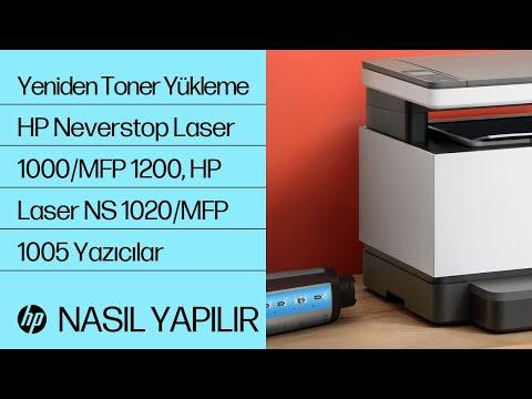 HP Neverstop Laser 1000/MFP 1200, HP Laser NS 1020/MFP 1005 Yazıcı Serilerinde Toner Yeniden Yükleme Setini Kullanarak Toner Yükleme