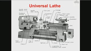 Lathe machine parts and functions | Lathe operations | Lathe machine working explained with diagram
