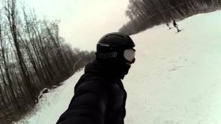 Безбашенный лыжник :-)