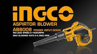 видео товара Воздуходувка INGCO AB8008 INDUSTRIAL