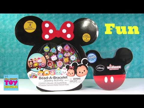 Disney Tsum Tsum Wikkeez Figures & Bead A Bracelet Activity Toy Review | PSToyReviews