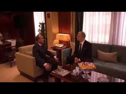 اجتماع وزير التجارة والصناعة مع الوفد البولندي
