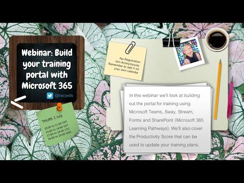 Webinar: Build your training portal with Microsoft 365 - YouTube