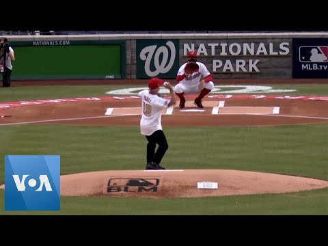 Dr. Anthony Fauci Throws First Pitch at Opening Day