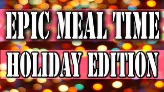 preview picture of video 'Epic Meal Time - Big Stupid Holiday Cake (Holiday Project)'