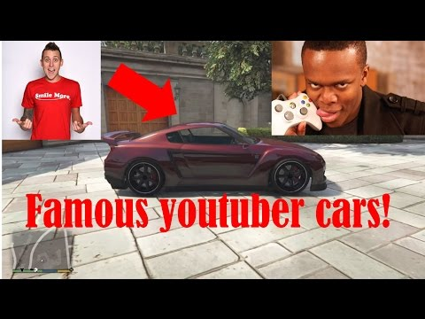 Famous Youtubers Cars GTA 5 (Roman Atwood, KSI, Adam LZ, W2S And Tanner Fox)