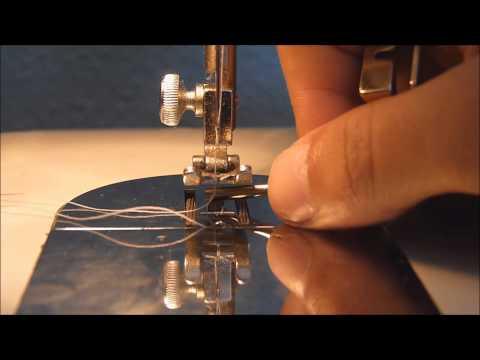 Máquina de coser. 3. Enhebrar, subir hilo y primeras puntadas.