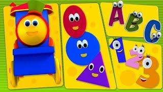 Bob The Train   Bob And Preschool Phonics Song  ABC Song Numbers Song   Shapes Song Bob Cartoons