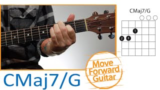 Guitar Chords For Beginners - CMaj7/G