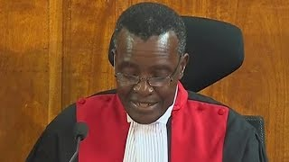 Supreme Court judge David Maraga introduces the applications to be heard