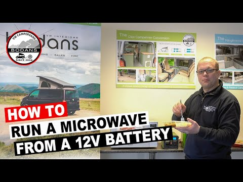 How to run a microwave oven off a 12v leisure battery in your VW T5 T6 Campervan