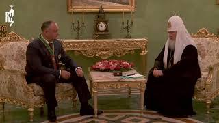 Состоялась встреча Патриарха Кирилла с Президентом Республики Молдова И.Н. Додоном