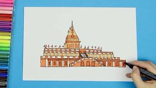 How to draw Ranbireshwar Temple, Jammu