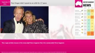 Paul Hogan didn't speak to ex-wife for 17 years