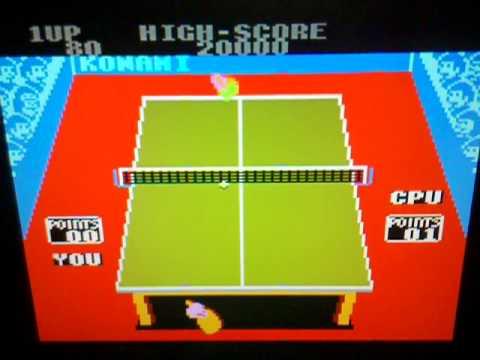 Konami's Ping Pong no Amstrad CPC 6128