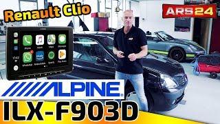 Alpine ILX-F903D   riesiges Autoradio   Renault Clio   ARS24