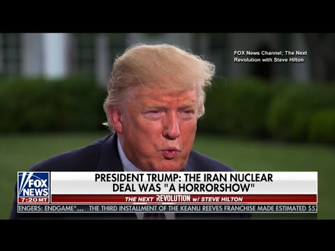 President Trump told Fox News Channel's The Next Revolution with Steve Hilton that he just doesn't want Iran to have nuclear weapons. He also said the U.S. withdrawal from the Iran nuclear deal has devastated Iran's economy. (May 20)