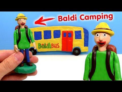 ЛЕПИМ БАЛДИ В ПОХОДЕ из игры Baldi's Basics Field Trip CAMPING | Видео Лепка (видео)