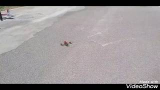 Racing drone with 3D printed shark fin